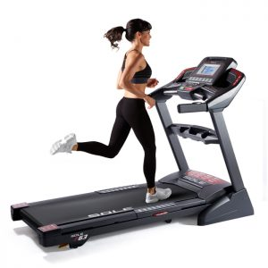 Sole F63 Treadmill With Female Runner Working Out