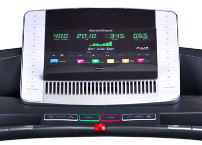 NordicTrack T8 display and console