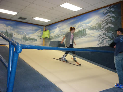 Bridger Ski Foundation Akeo Maifeld Carucci During A V02max Rollerski Treadmill Test At Montana State