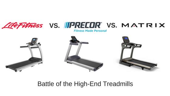 life fitness vs precor vs matrix treadmills